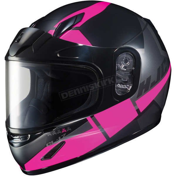 HJC Youth Semi-Flat Black/Pink CL-YSN Boost MC-8SF Helmet w/Framed Dual Lens Shield   - 237-784