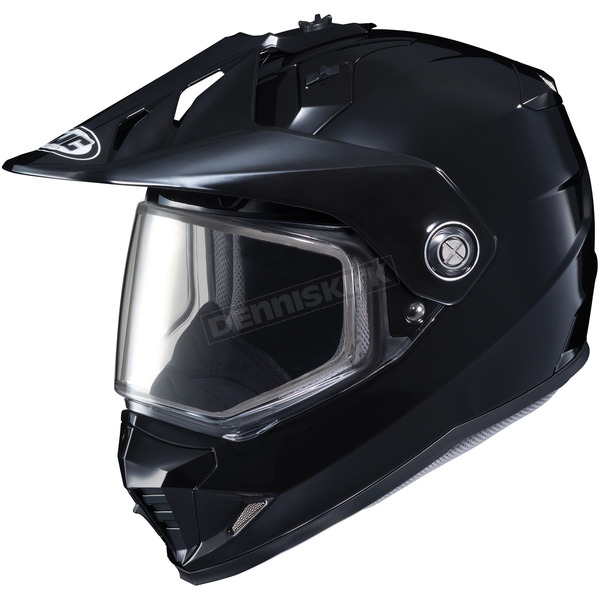 HJC Black DS-X1 Snow Helmet w/Frameless Dual Lens - 511-606