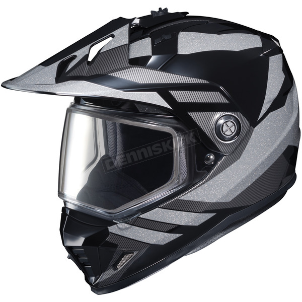 HJC Black/Gray DS-X1 Lander MC-5 Snow Helmet w/Frameless Dual Lens Shield - 513-953