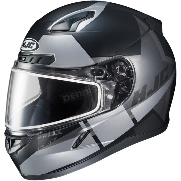 HJC Semi-Flat Black/Gray CL-17SN Boost MC-5SF Helmet w/Frameless Dual Lens Shield - 853-754