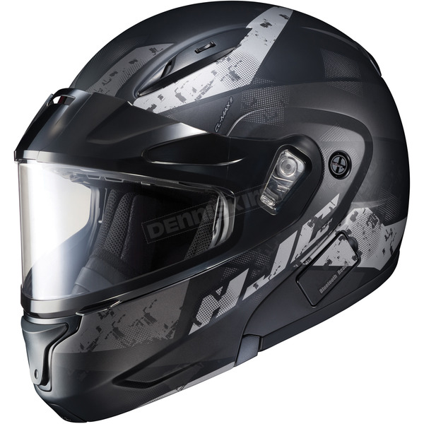 HJC Semi-Flat Black/Gray CL-Max2 Friction MC-5SF Helmet w/Framed Dual Lens Shield - 997-752
