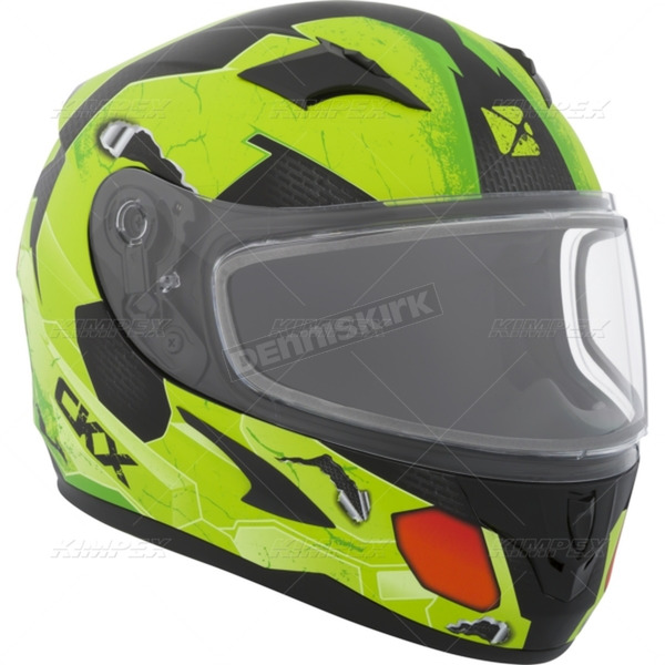 CKX Youth Matte Green/Black/Red RR610Y Cosmos Snow Helmet - 506222#