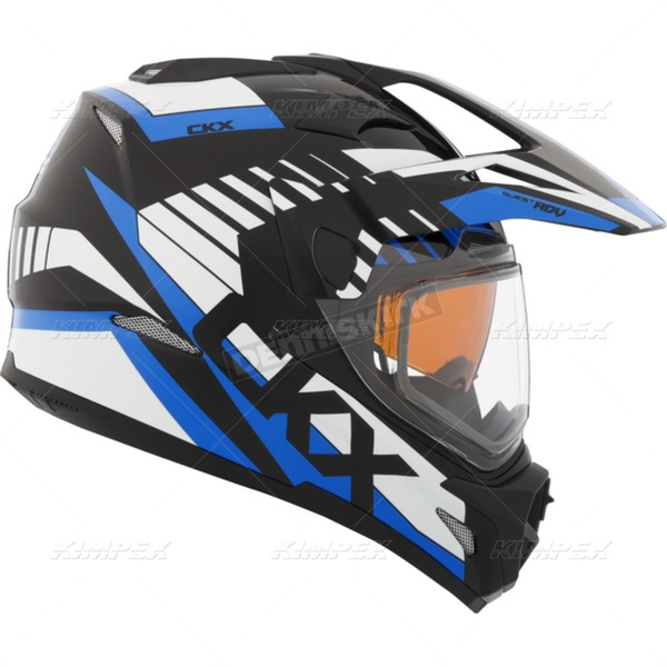 CKX Blue Quest RSV Rocket Snow Helmet w/Electric Shield - 508556#