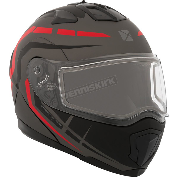 CKX Matte Black/Gray/Red Tranz 1.5 RSV Scorpion Modular Snow Helmet - 508664#