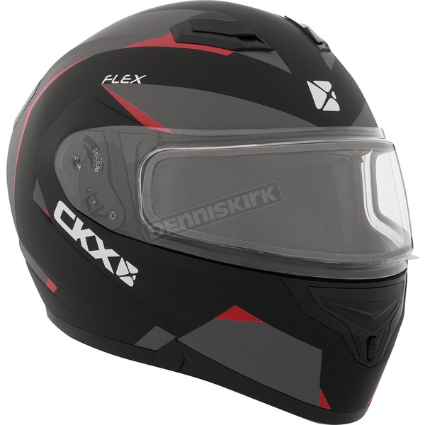 CKX Red Flex RSV Control Snow Modular Helmet w/Electric Shield - 508967#