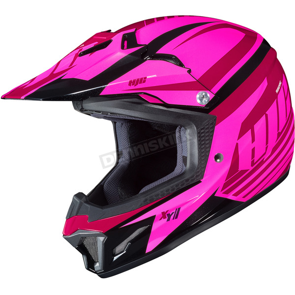 HJC Youth Pink/Red CL-XY II Bator MC-8 Helmet - 294-983
