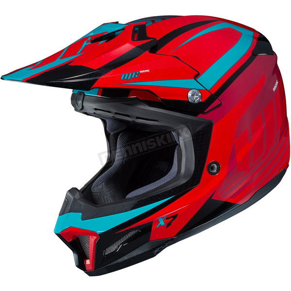 HJC Red/Blue CL-X7 Bator MC-1 Helmet - 756-917
