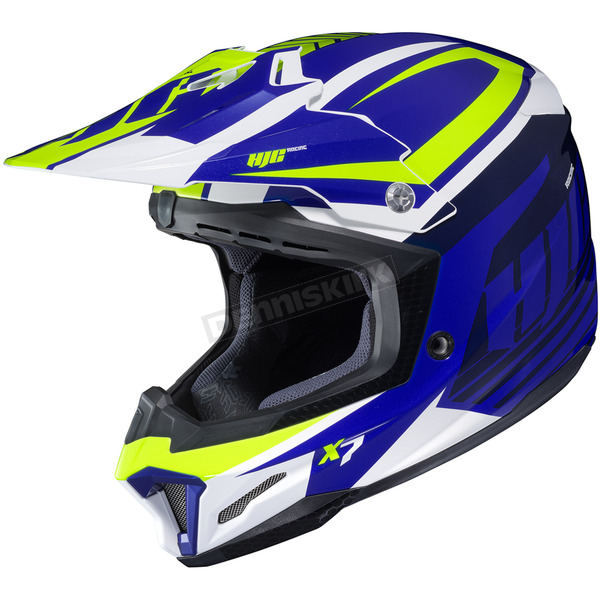 HJC Blue/Green/White CL-X7 Bator MC-2 Helmet - 756-925