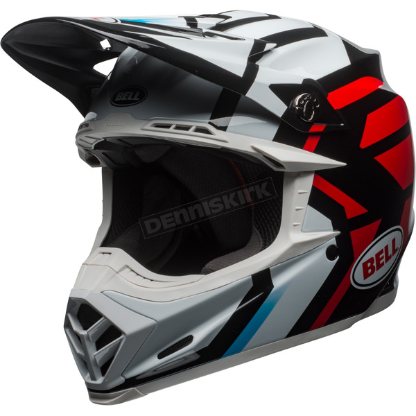 Bell Helmets White/Black/Red Moto-9 MIPS District Helmet - 7091838