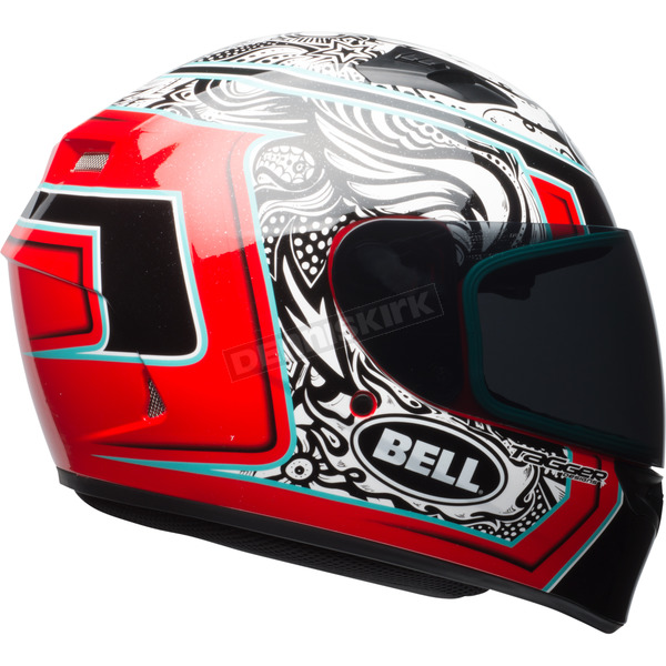 Bell Helmets White/Red/Black  Qualifier Tagger Splice Helmet - 7092799