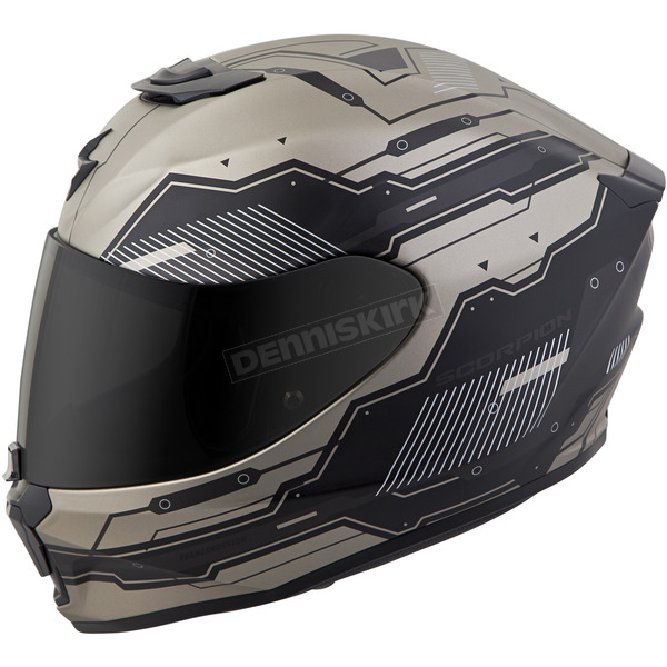 Scorpion Titanium/Black EXO-R420 Techno Helmet - 42-1026