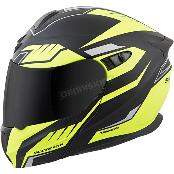 Scorpion Black/Neon EXO-GT920 Shuttle Helmet - 92-1436