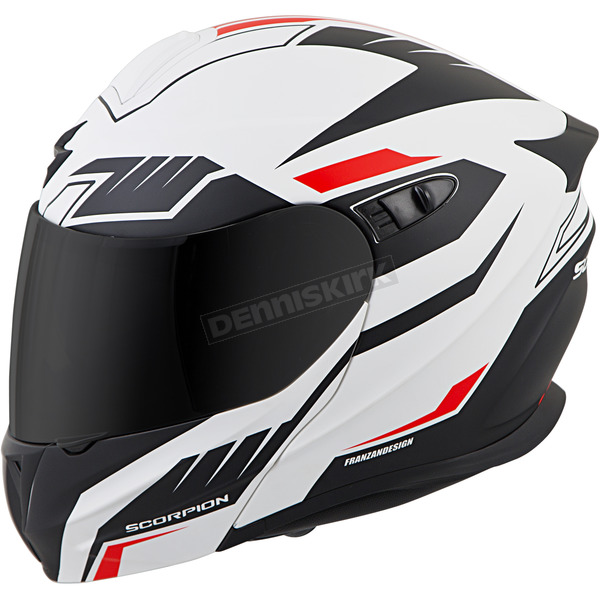Scorpion White/Black/Red EXO-GT920 Shuttle Helmet - 92-1332