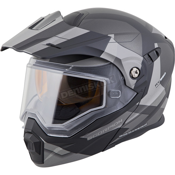 Scorpion Silver EXO-AT950 Snow Helmet - 95-1057-SD