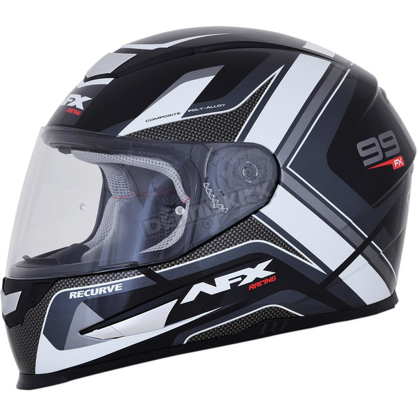 AFX Black/White FX-99 Helmet - 0101-11120