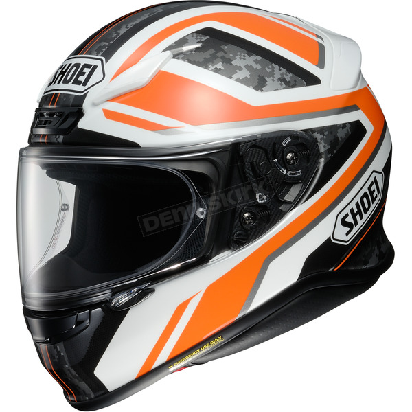 Shoei Helmets Orange/Black/White RF-1200 Parameter TC-8 Helmet - 0109-3008-04