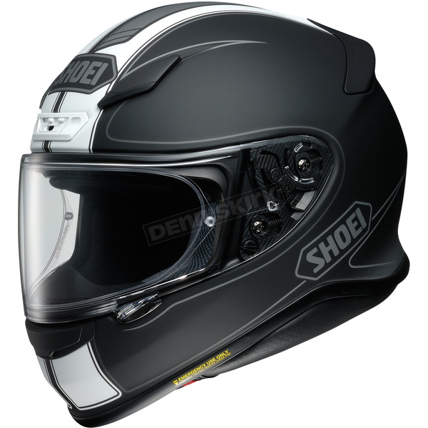 Shoei Helmets Matte Black/White RF-1200 Flagger TC-5 Helmet - 0109-3105-06