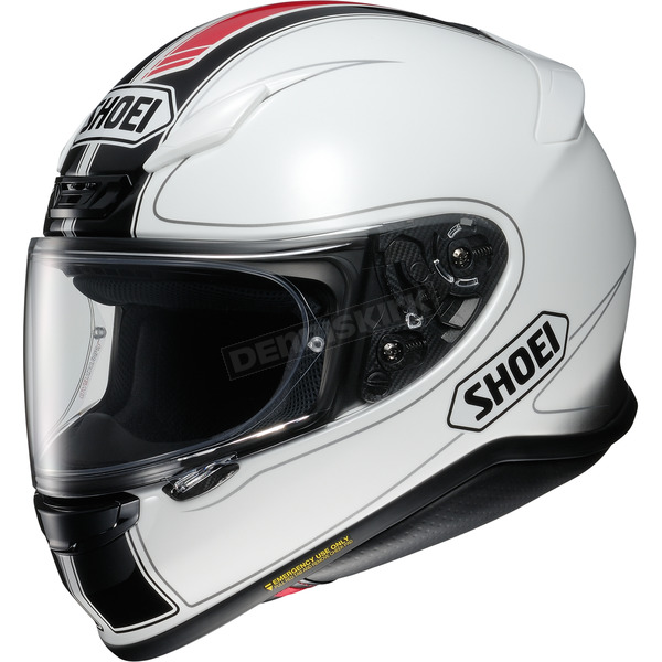 Shoei Helmets White/Black/Red RF-1200 Flagger TC-6 Helmet - 0109-3106-04