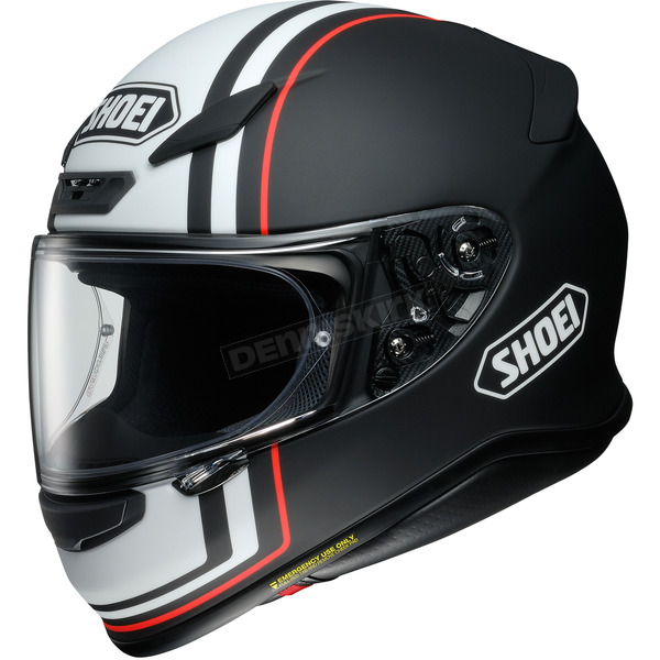Shoei Helmets Black/White/Orange RF-1200 Recounter TC-5 Helmet - 0109-3305-05