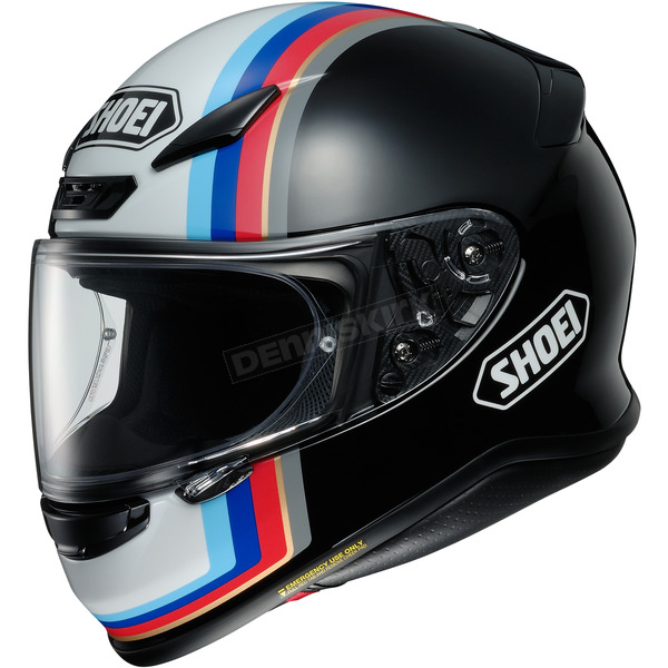 Shoei Helmets Black/White/Blue RF-1200 Recounter TC-10 Helmet - 0109-3310-06