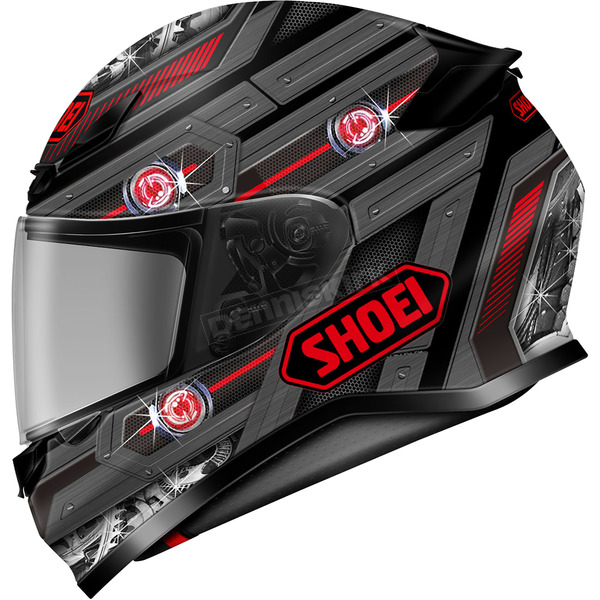 Shoei Helmets Matte Gray/Red/Black RF-1200 Trooper TC-1 Helmet - 0109-3501-03