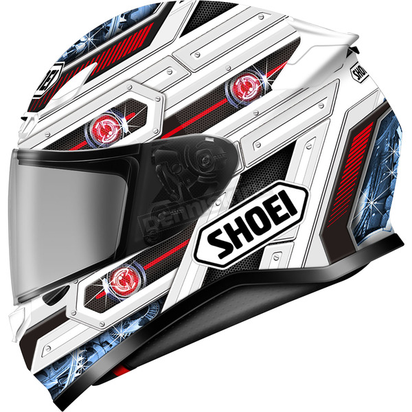Shoei Helmets White/Red/Black RF-1200 Trooper TC-10 Helmet - 0109-3510-06