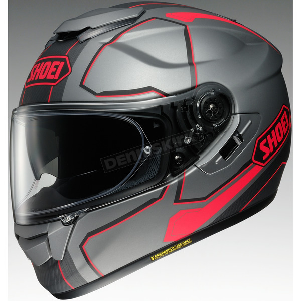 Shoei Helmets Gray/Black/Red GT-Air Pendulum TC-10 Helmet - 0118-2010-03
