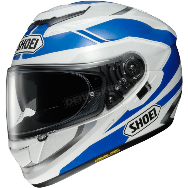 Shoei Helmets White/Blue GT-Air Swayer TC-2 Helmet - 0118-2102-08