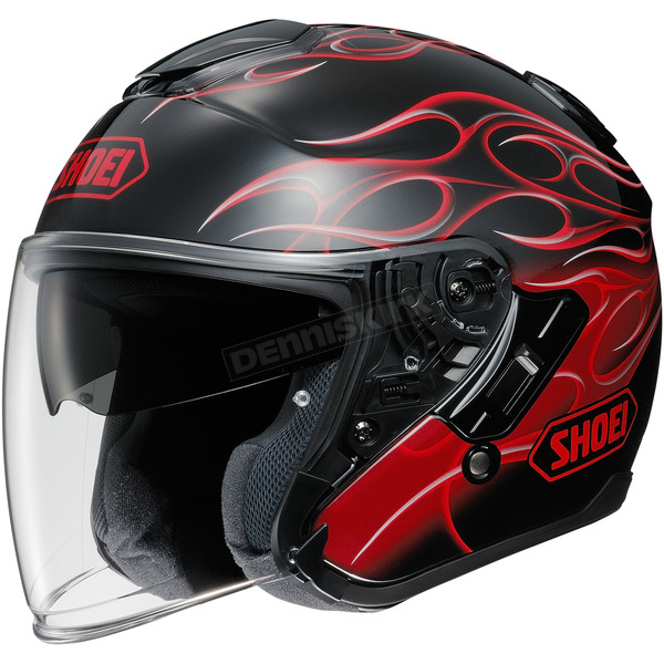 Shoei Helmets Black/Red J-Cruise Reborn TC-1 Helmet - 0130-1001-05