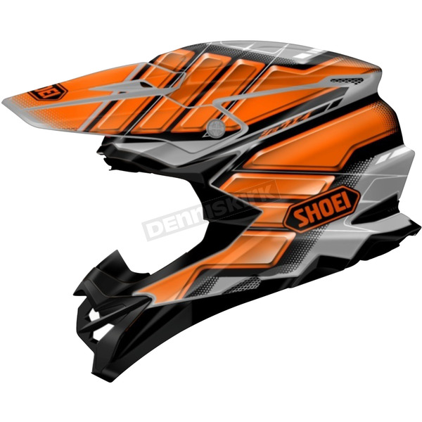 Shoei Helmets Orange/Gray/Black VFX-EVO Glaive TC-8 Helmet - 0146-1008-06