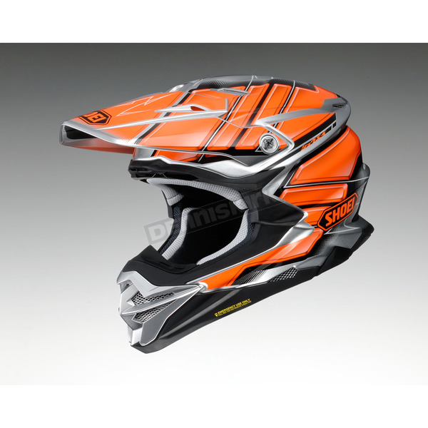 Shoei Helmets Orange/Gray/Black VFX-EVO Glaive TC-8 Helmet - 0146-1008-04