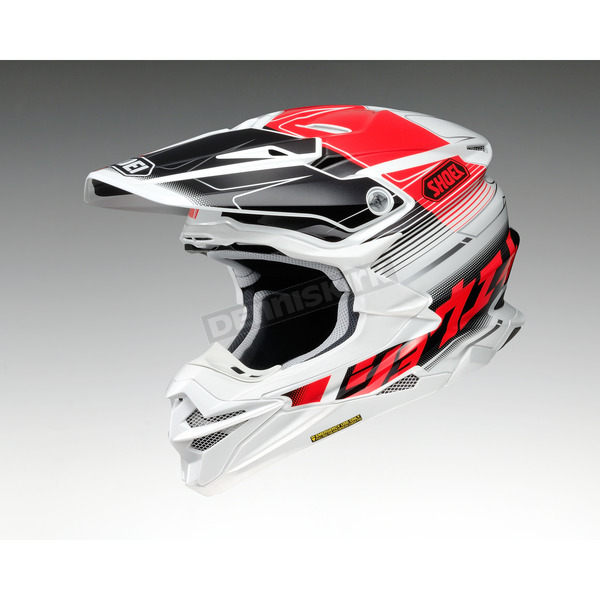 Shoei Helmets Red/Black/White VFX-EVO Zinger TC-1 Helmet - 0146-1101-05