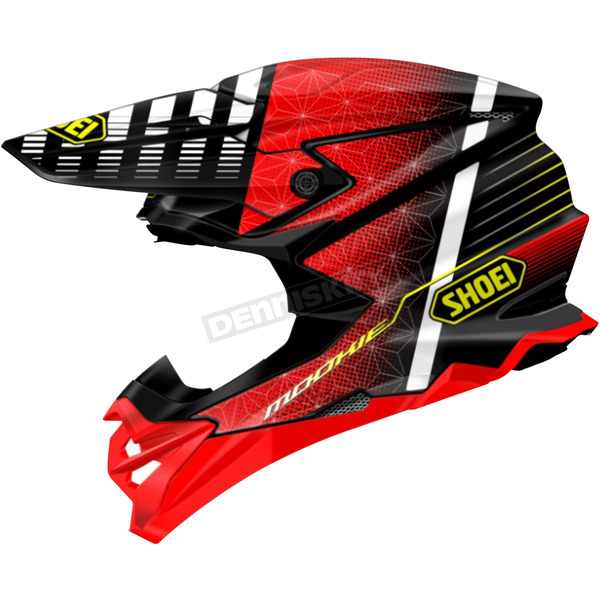 Shoei Helmets Red/Black/White VFX-EVO Blazon TC-1 Helmet - 0146-1201-04