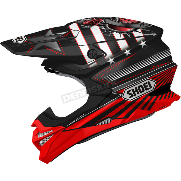 Shoei Helmets Black/Red/White VFX-EVO Grant 3 TC-1 Helmet - 0146-1301-06