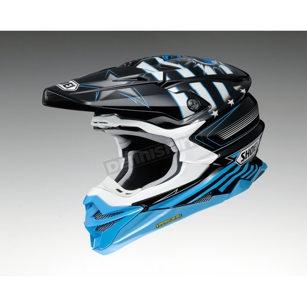 Shoei Helmets Black/Blue/White VFX-EVO Grant 3 TC-2 Helmet - 0146-1302-05