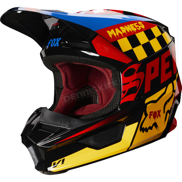 Black/Yellow V1 Czar Helmet - 21778-019-M