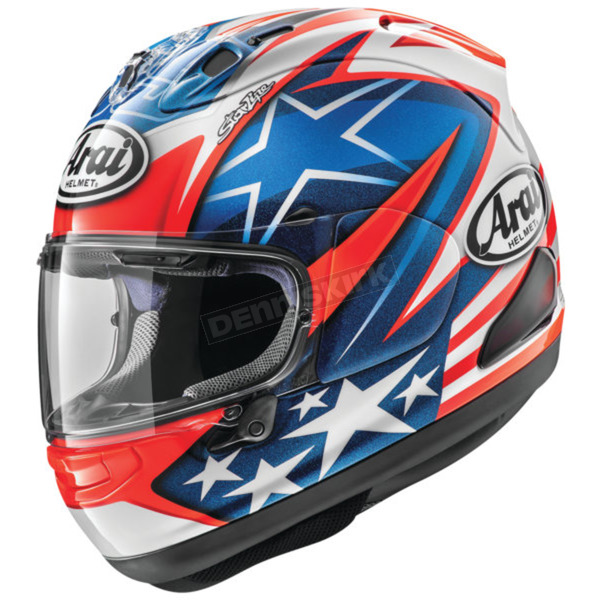 Blue/Red/White Corsair-X Nicky-7 Helmet