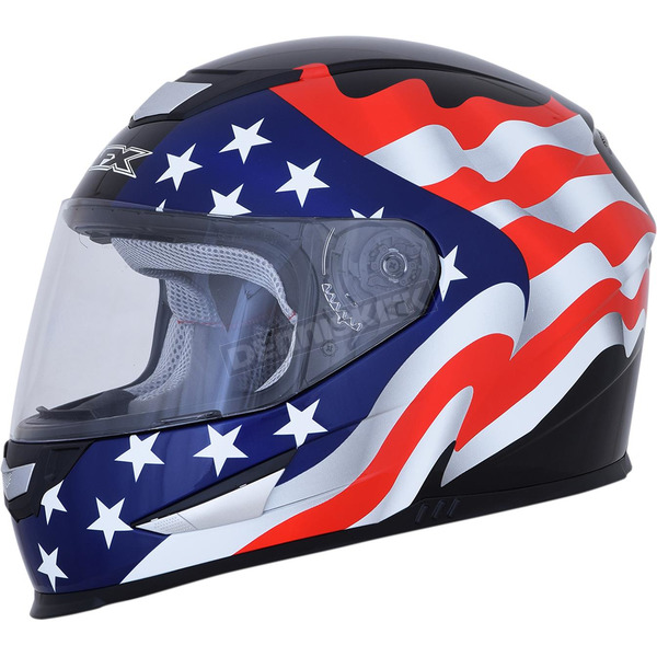 AFX Gloss Black FX-99 Flag Helmet - 0101-11366
