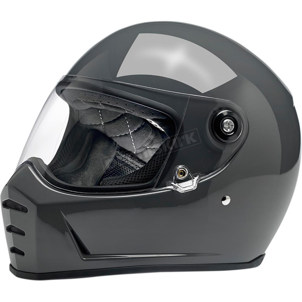 Biltwell Gloss Storm Gray Lane Splitter Helmet  - 1004-109-104