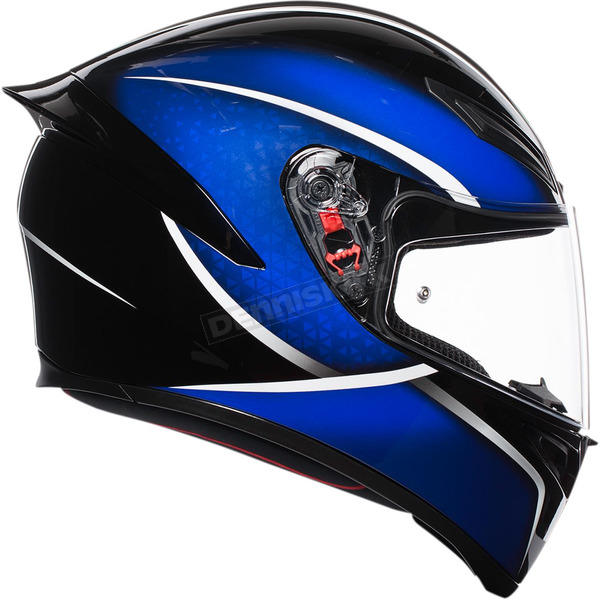 AGV Black/Blue K1 Qualify Helmet  - 0281O2I000506