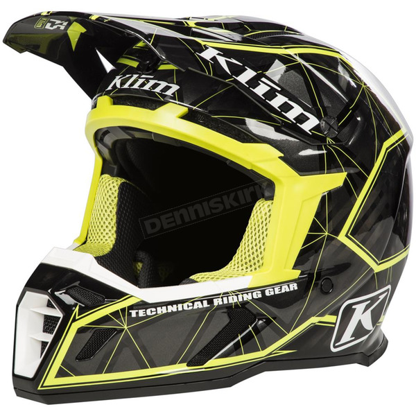 Klim Black/Hi-Vis Green F5 Demolish Helmet - 3910-000-140-007