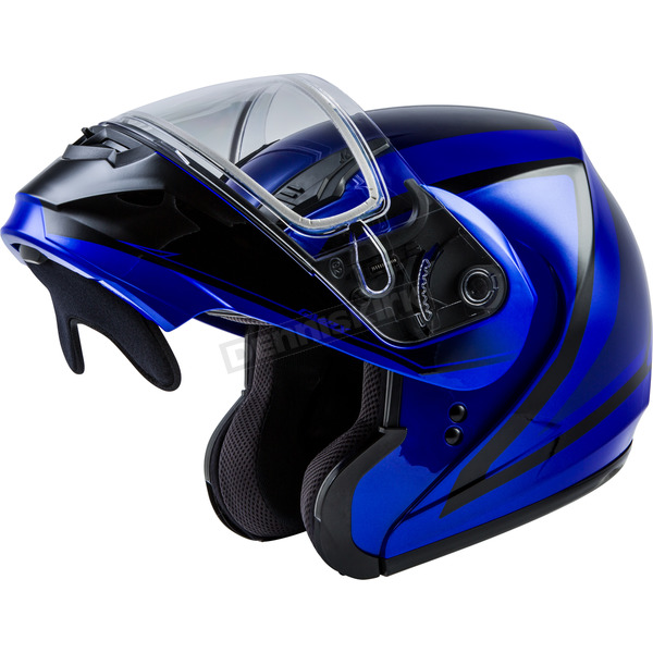 Blue/Black MD04S Docket Modular Snow Helmet w/Dual Lens Shield - G2042044