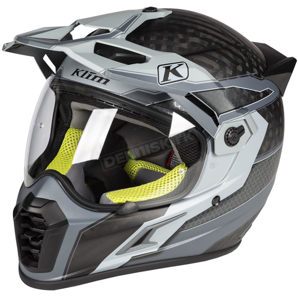Klim Matte Gray/Black/Lime Krios Pro Arsenal Helmet - 3610-000-130-001