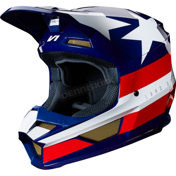 White/Red/Blue V1 Regl Special Edition Helmet - 24276-574-2X