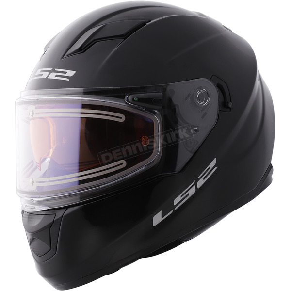 LS2 Black Stream Helmet w/Electric and Single Lens Shields - 328-2004