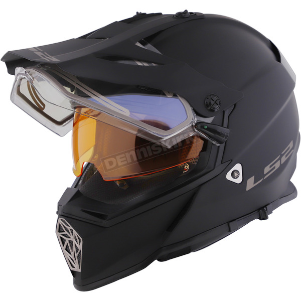 Matte Black Pioneer V2 Helmet w/Electric and Single Lens Shields - 436-8004