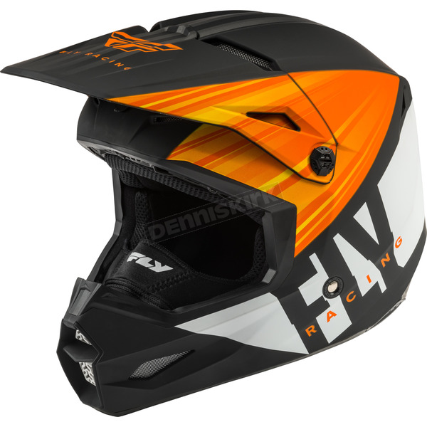 Matte Orange/Black/White Kinetic Cold Weather Helmet