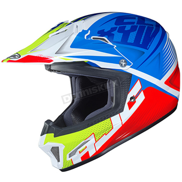 Youth Blue/Red/White/Green CL-XY II Ellusion MC-23 Helmet