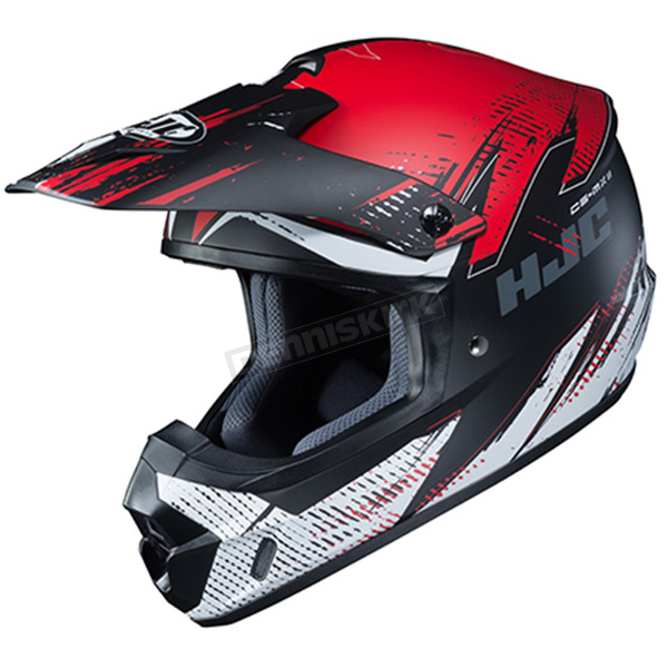 Semi-Flat Red/Black/White CS-MX 2 Krypt MC-1SF Helmet