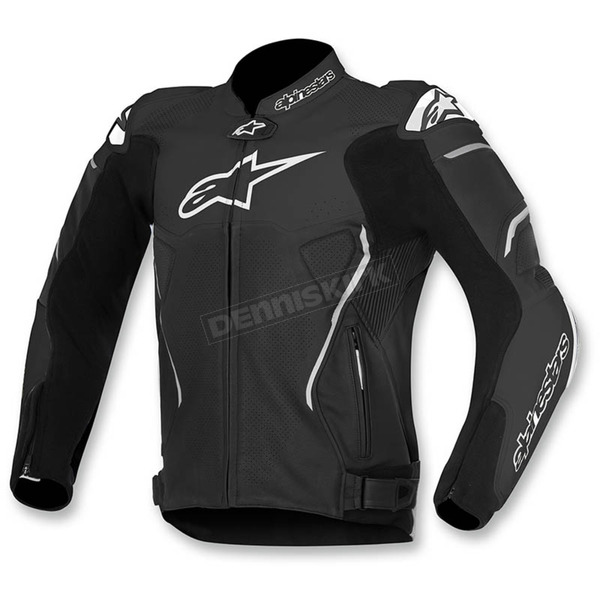 Alpinestars Black ATEM Leather Jacket - 3106515-10-56